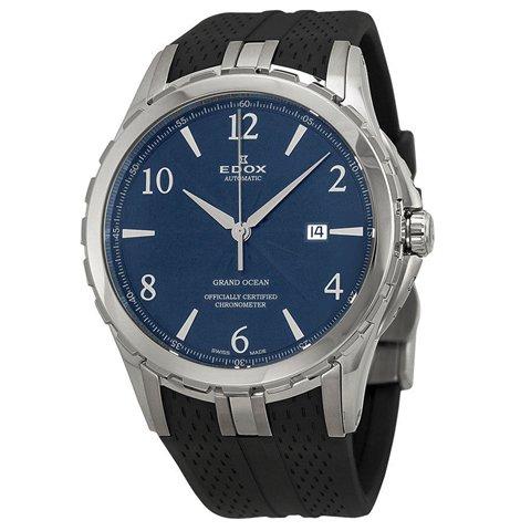 エドックス 腕時計 グランドオーシャン 80077-3-BUBN ブルー×ブラックラバーベルト