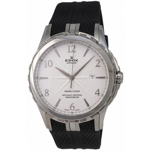 エドックス 腕時計 グランドオーシャン 80077-3-ABN シルバー×ブラックラバーベルト