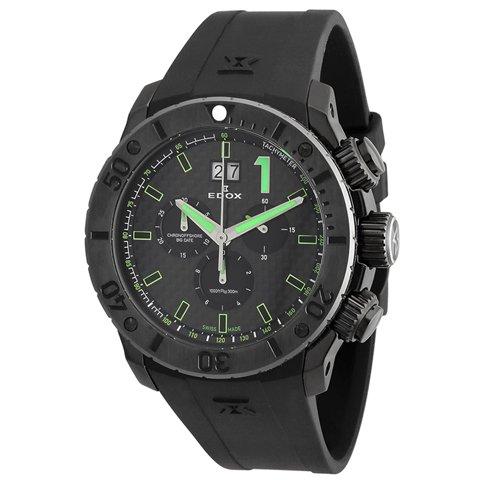 エドックス 腕時計 クラスワン クロノオフショア 10020-37N-NV ブラック×グリーン
