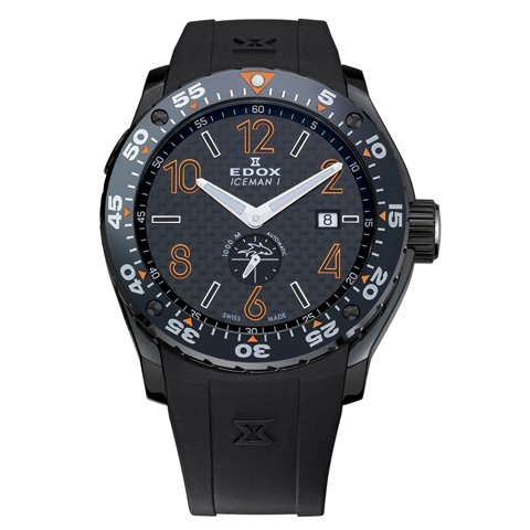 エドックス 腕時計 クラスワン アイスマン 96001 37NO NIO2 限定モデル ブラック