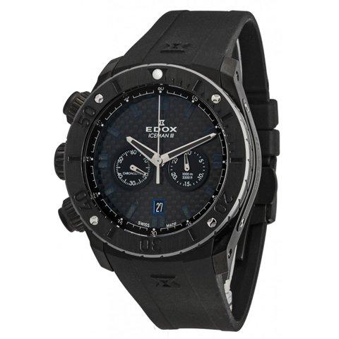 エドックス 腕時計 クラスワン アイスマン� 10306 37NR GIR 限定モデル ブラック