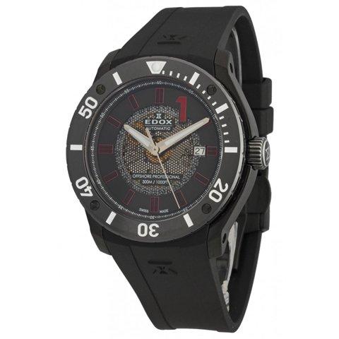 エドックス 腕時計 クラスワン オートマチック クロノオフショア 80088 37N NRO2 ブラック×レッド