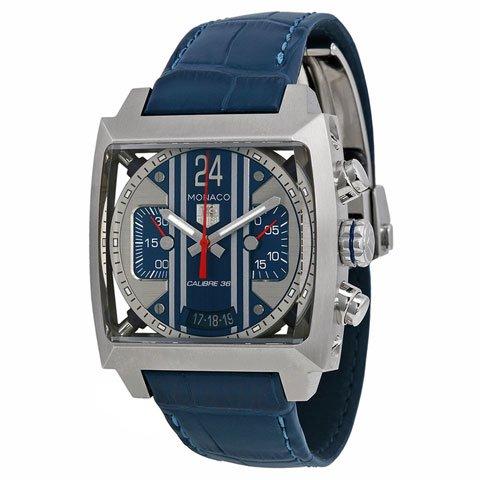 uk availability de9f1 086fc Tag Heuer(タグホイヤー) モナコ24 スティーブ・マックイーンモデル 時計 CAL5111.FC6299  ブルー×ブルー-  おしゃれな腕時計ならワールドウォッチショップ