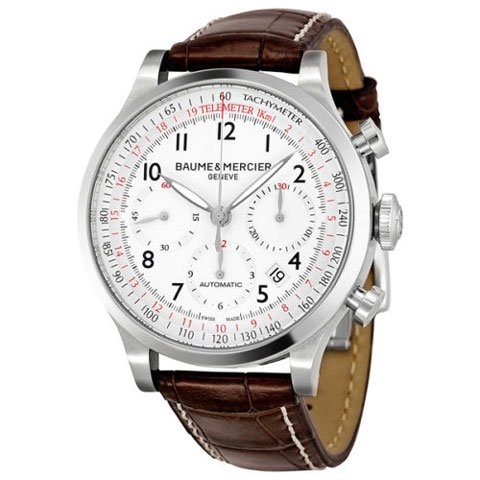ボーム&メルシエ 腕時計 ケープランド M0A10082 ホワイト×ブラウン