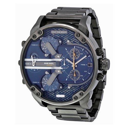 ディーゼル 腕時計 ミスターダディー DZ7331 デニムダイアル×ブラックステンレスベルト