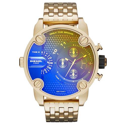 ディーゼル 腕時計 リトルダディー DZ7347 ブルー×ゴールド