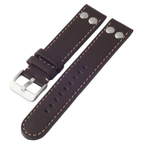 ラコ 腕時計 替えベルト 401873.XL 幅20ミリ ダークブラウンカーフレザーベルト