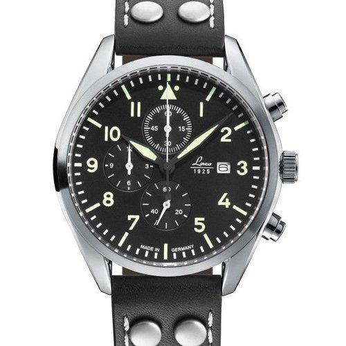 ラコ 腕時計 国内正規品 クロノグラフ トリーア 861915 ブラック×ブラックレザーベルト