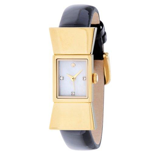 ケイトスペード 腕時計 1YRU0068 カーライル マザーオブパール×ゴールド×ブラックレザーベルト