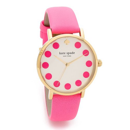 ケイトスペード 腕時計 メトロ 1YRU0770 ホワイト×ピンクレザーベルト
