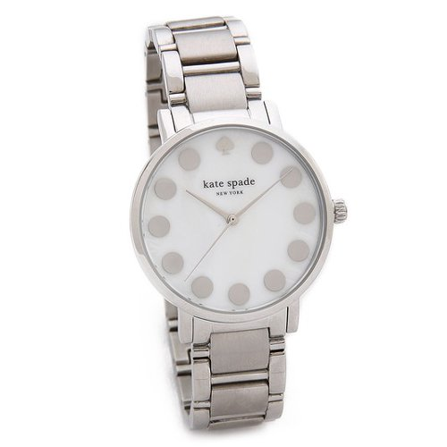 ケイトスペード 腕時計 グラマシー 1YRU0736 ホワイトシェル×シルバー