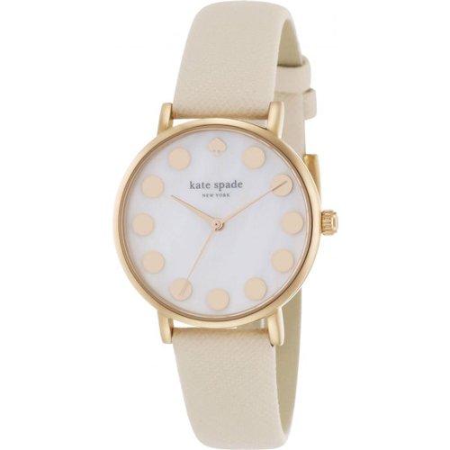 ケイトスペード 腕時計 メトロ 1YRU0734 マザーオブパール×クリームレザーベルト
