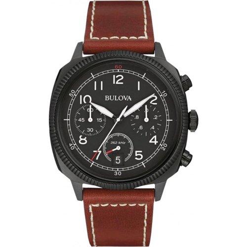 ブローバ 腕時計 ミリタリー UHFコレクション ブラック×ブラウンレザーベルト