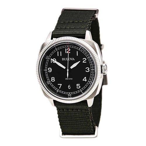 ブローバ/Bulova/時計/ミリタリー/UHFコレクション/96B229/ブラック×グリーンナイロンベルト