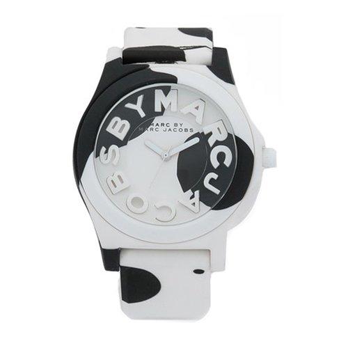 マークバイマークジェイコブス 時計 レディース MBM4026 スローン ブラック×ホワイトラバーベルト