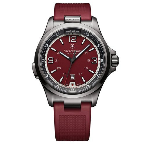 ビクトリノックス 腕時計 ナイトビジョン 241717 レッドダイアル×レッドラバーベルト