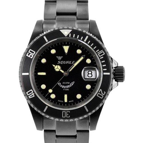 スクワーレ 腕時計 1545コレクション 1545-C-DLC ブラックダイアル×ブラックステンレススチールベルト