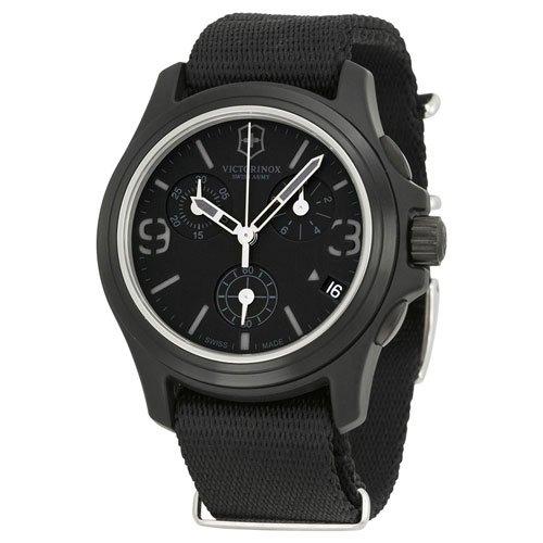 ビクトリノックス 腕時計 オリジナル 241534 ブラックダイアル×ブラックナイロンベルト