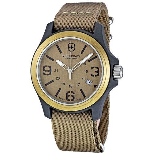 ビクトリノックス 腕時計 オリジナル 241516 ベージュダイアル×ベージュナイロンベルト