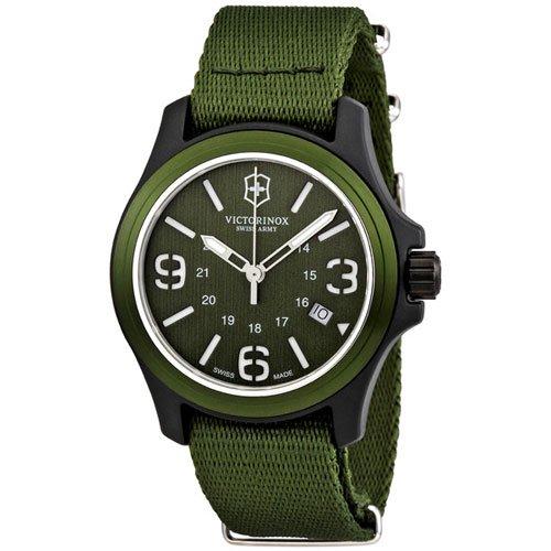 ビクトリノックス 腕時計 オリジナル 241514 グリーンダイアル×グリーンナイロンベルト