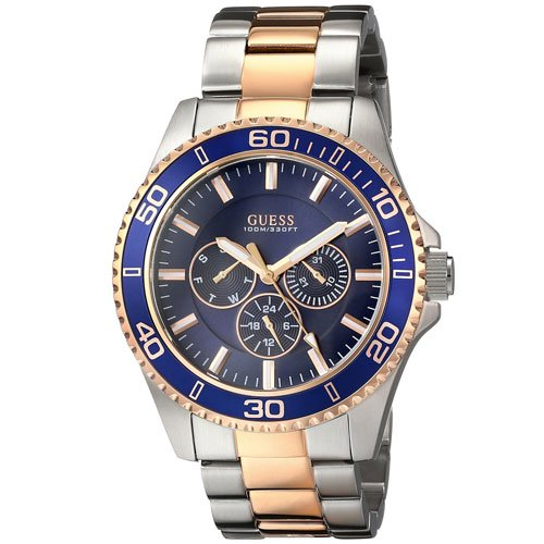ゲス 腕時計 メンズ チェイサー W0172G3 ブルーダイアル×ツートンステンレスベルト