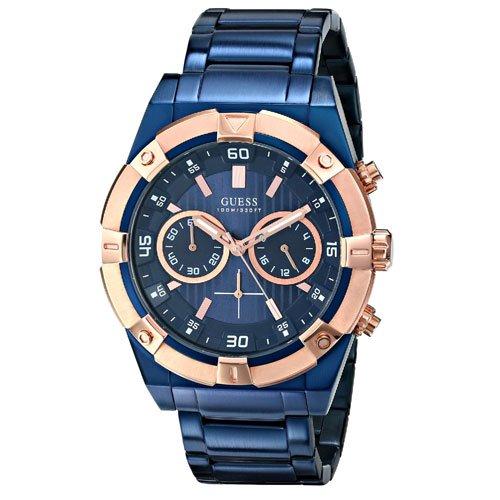 ゲス 腕時計 メンズ ジョルト W0377G4 ブルーダイアル×ブルーステンレスベルト