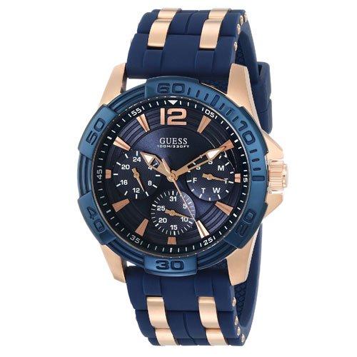 ゲス 腕時計 メンズ オアシス W0366G4 ブルーダイアル×ブルーラバーベルト
