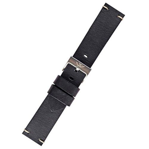 スクワーレ 腕時計 替えベルト 1521-BLK-LTHR ブラックレザーベルト