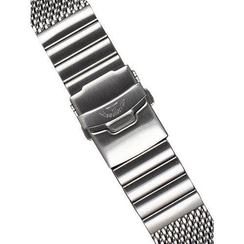 スクワーレ 腕時計 替えベルト 2002コレクション 2002-Mesh-S シルバーメッシュベルト