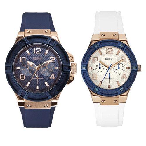 ゲス 腕時計 ペアウォッチ W0247G3 W0564L1 ブルー×ブルー ホワイト×ホワイト