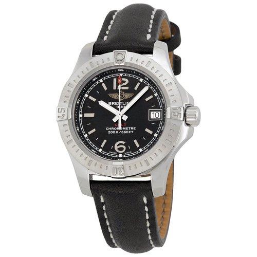 ブライトリング 腕時計 レディース コルト A7738811-BD46BKLT ブラック×ブラックレザーベルト