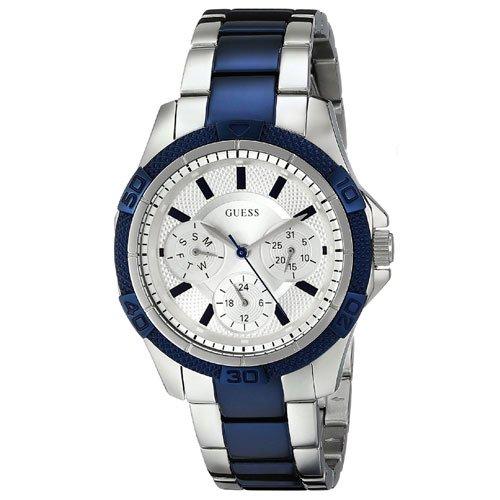 ゲス 腕時計 レディース ミニファントム W0235L6 シルバーダイアル×ツートンステンレスベルト