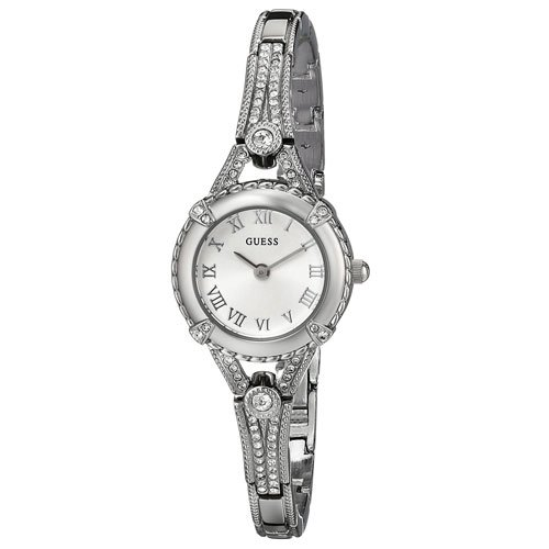 ゲス 腕時計 レディース エンジェリック  W0135L1 シルバーダイアル×ステンレスベルト