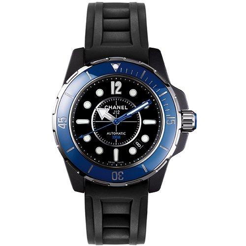 シャネル 腕時計 メンズ J12 マリーン H2559 ブラックセラミック×ブラックラバーベルト