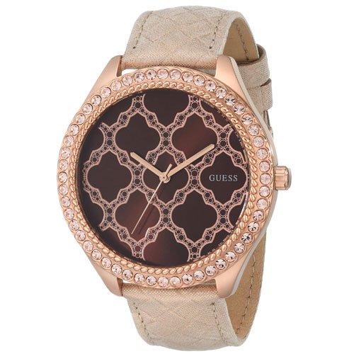 ゲス 腕時計 レディース マジェスティック  W0579L2 ブラウンダイアル×クリームレザーベルト