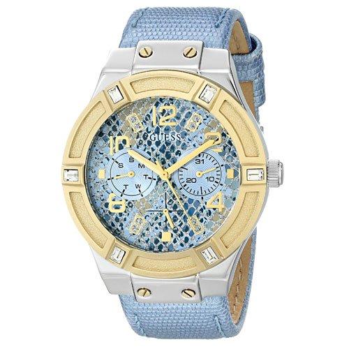 ゲス 腕時計 レディース ジェットセッター W0289L2 ブルーダイアル×ブルーレザーベルト