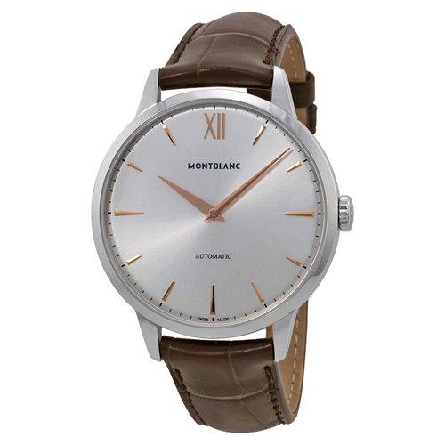 モンブラン 腕時計 マイスターシュテュック ヘリテージ オートマチック 110695 シルバー×ブラウンレザーベルト