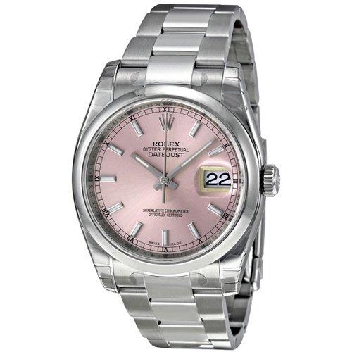 ロレックス 腕時計 デイトジャスト レディース 116200PSO ピンク×ステンレススチールベルト