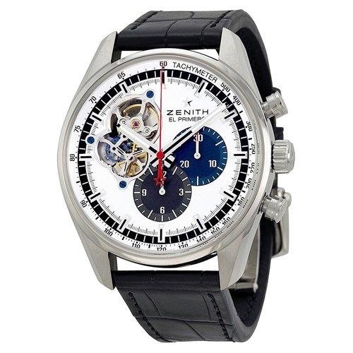 ゼニス 腕時計 エル・プリメロ クロノマスター 03.2040.4061/69.C496 シルバー×ブラックレザーベルト