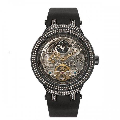ジョーロデオ 腕時計 マスター ダイヤモンドウオッチ 2,2カラット JJM82 オートマチック ブラック