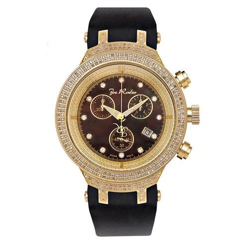 ジョーロデオ 腕時計 マスター ダイヤモンドウオッチ 2,2カラット JJM78 ブラック×ゴールド