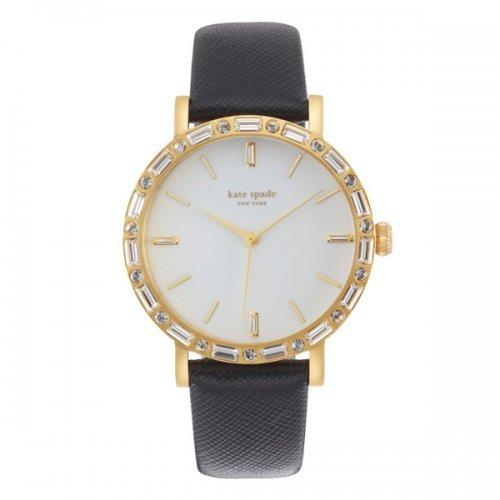 ケイトスペード 腕時計 1YRU0654A ホワイト×レッドラメレザー×ブラックレザーベルト