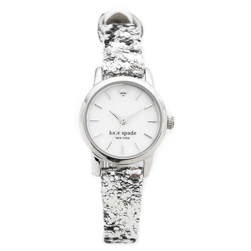 ケイトスペード 腕時計 KSW1008 タイニーメトロ ホワイト×ラメシルバー