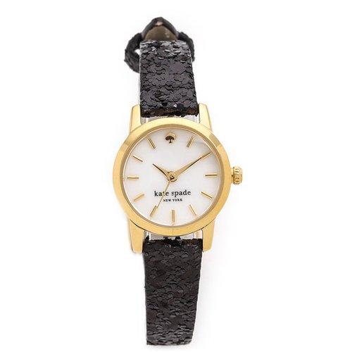 ケイトスペード 腕時計 KSW1010 タイニーメトロ ホワイト×ラメブラック