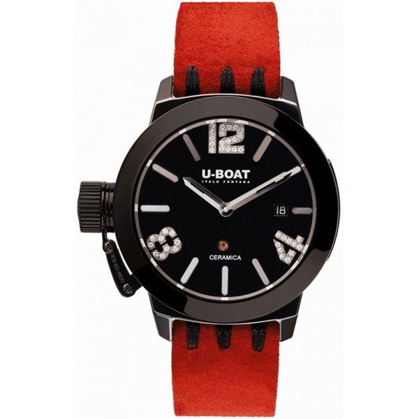 ユーボート 腕時計 クラシコ レディース U7123 ブラック×レッドラバーベルト
