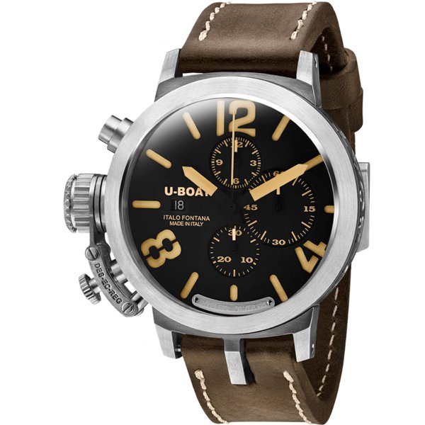 ユーボート 腕時計 クラシコ U7453 限定モデル ブラック×ブラウンレザーベルト