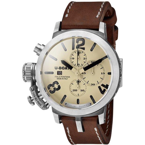 ユーボート 腕時計 クラシコ U7452 限定モデル ベージュ×ブラウンレザーベルト