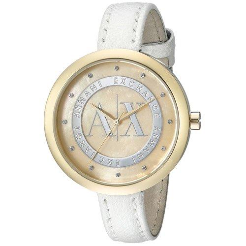 アルマーニエクスチェンジ 腕時計 レディース ジュリエッタ AX4227 マザーオブパールダイアル×ホワイトレザーベルト
