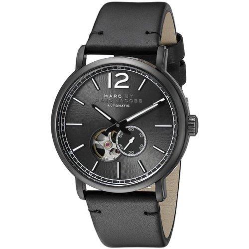 マークバイマークジェイコブス 腕時計 メンズ MBM9717 ファーガス オートマチック セミスケルトン×ブラックレザーベルト