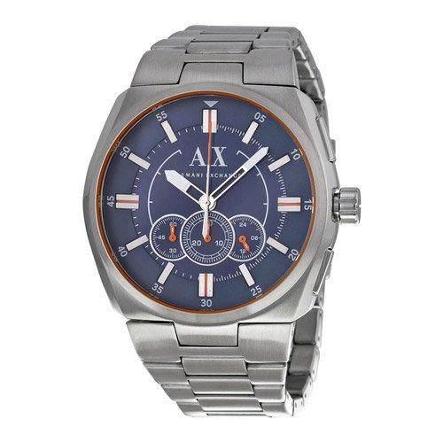 アルマーニエクスチェンジ/Armani Exchange/腕時計/メンズ/AX1800/クラッチ/クロノグラフ/ブルー×ステンレスベルト